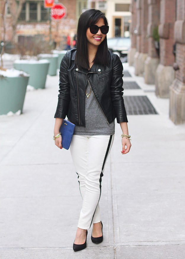 White Denim Leggings