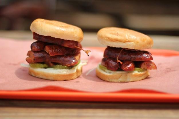 La Barbecue Hot Sausage Sandwich