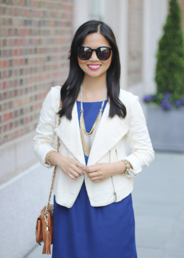 Navy and Cream Work Outfit
