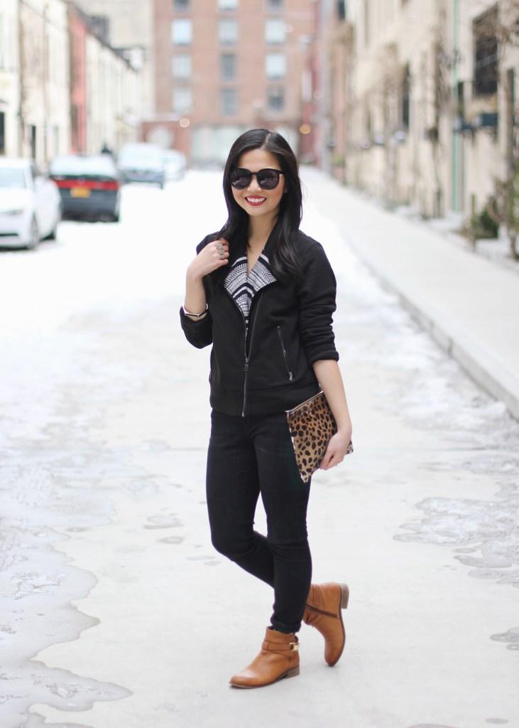 Black Moto Jacket & Skinny Jeans