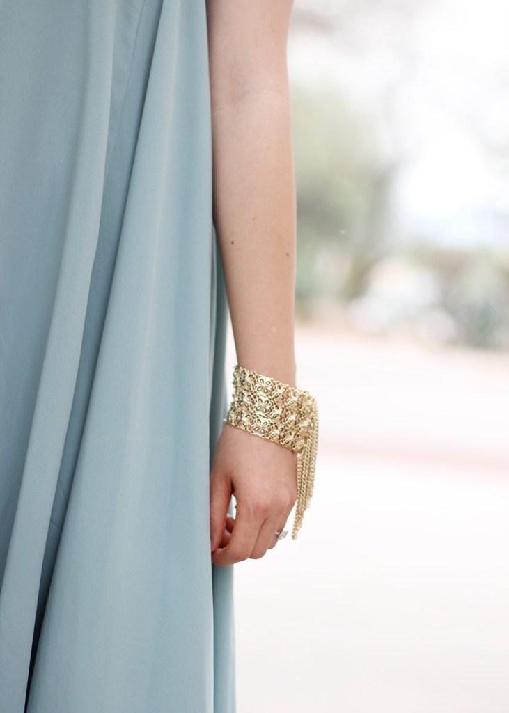 Skrit The Rules // Gold Fringe Bracelet