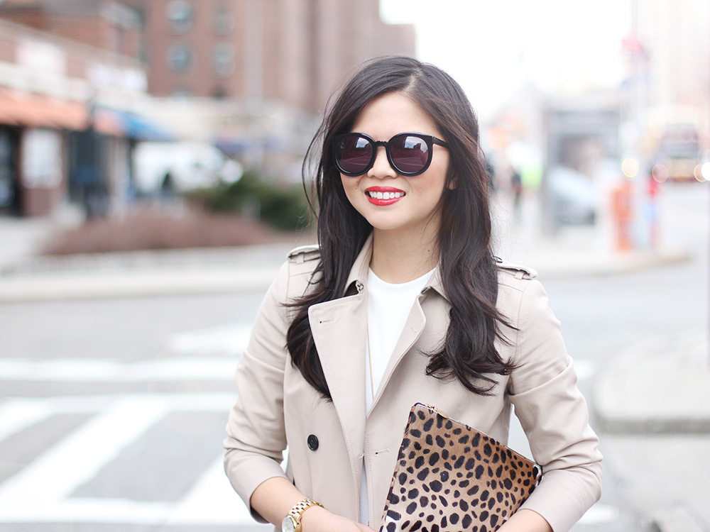 Skirt The Rules // Trench Coat & Leopard Clutch
