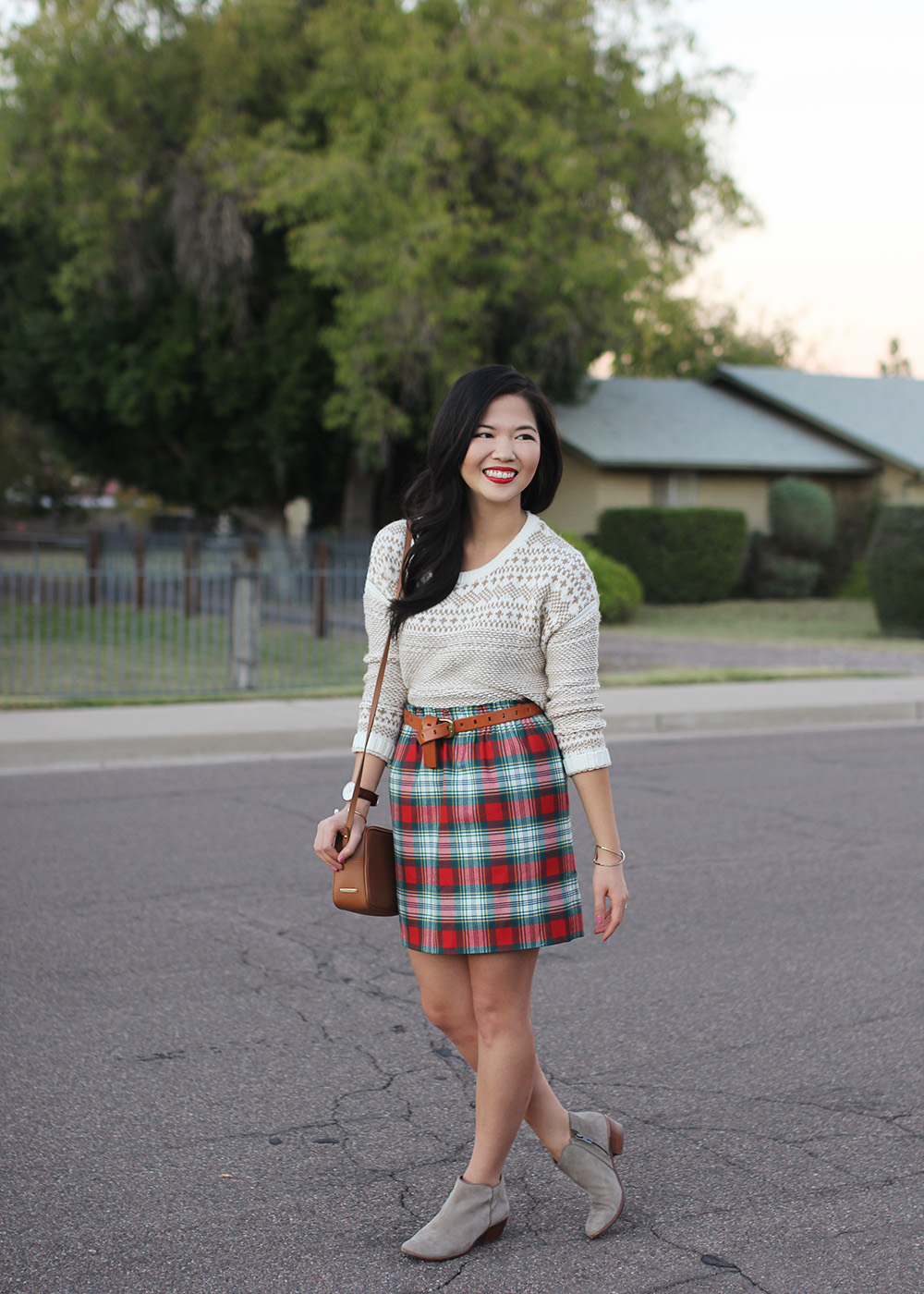 Christmas Plaid Skirt - Skirt The Rules | Life & Style in NYC