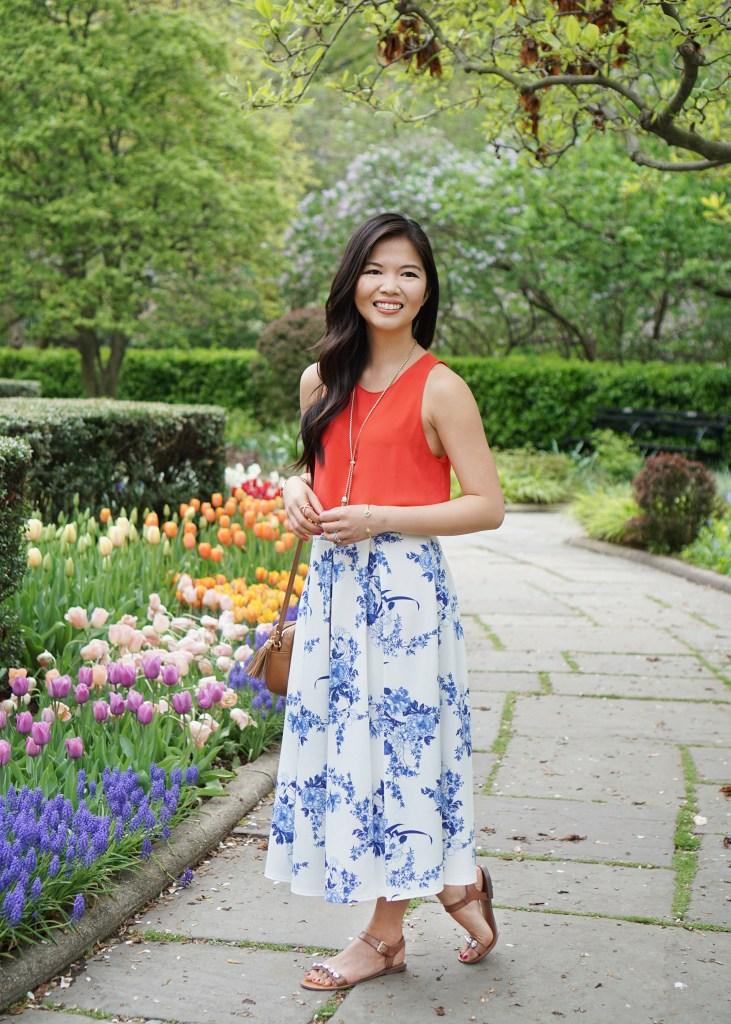 Skirt The Rules / Floral Midi Skirt