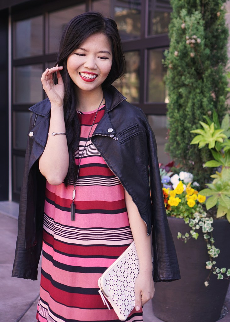 Skirt The Rules / Black & Red Striped Dress
