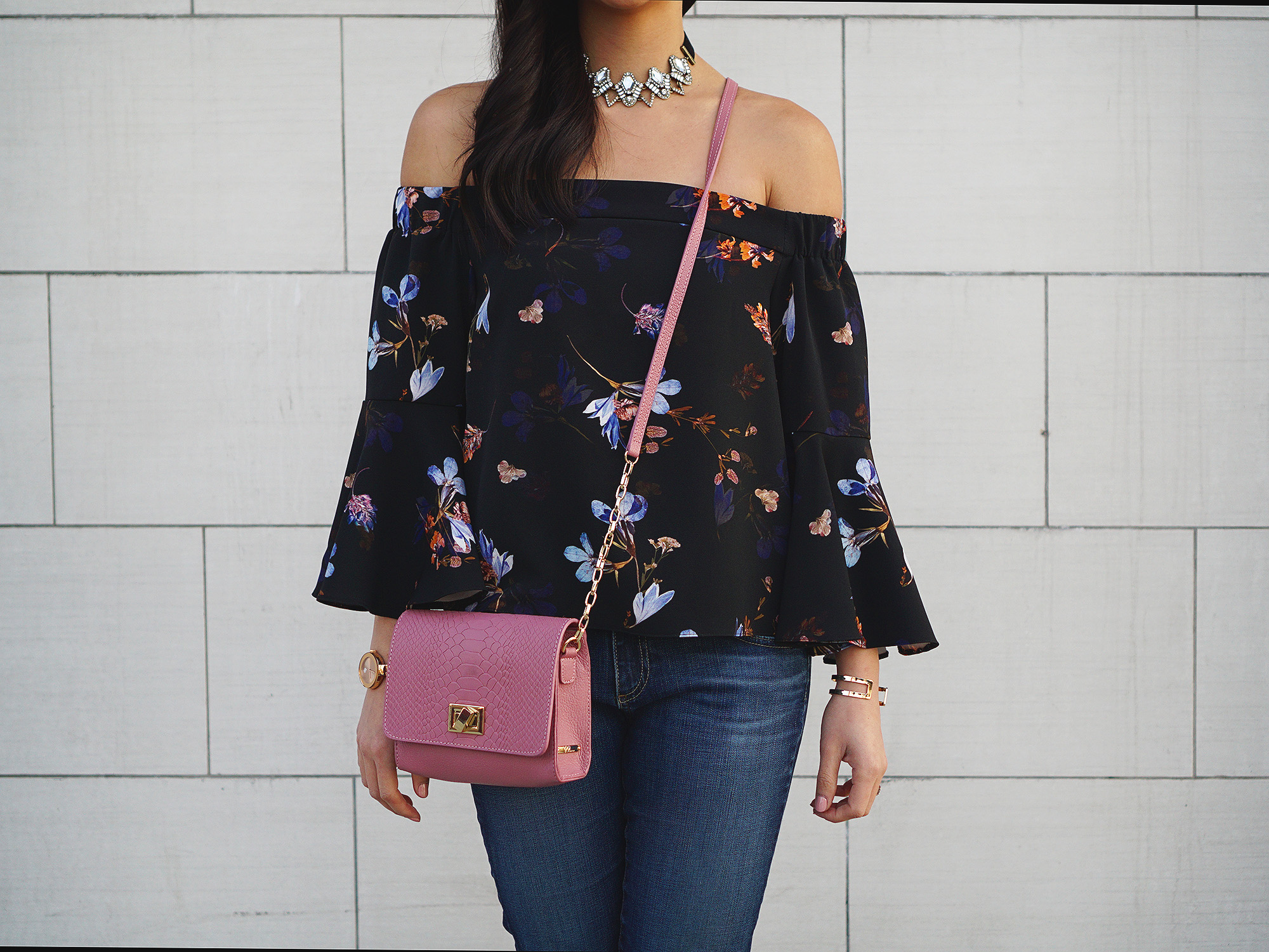 Skirt The Rules / Off the Shoulder Top