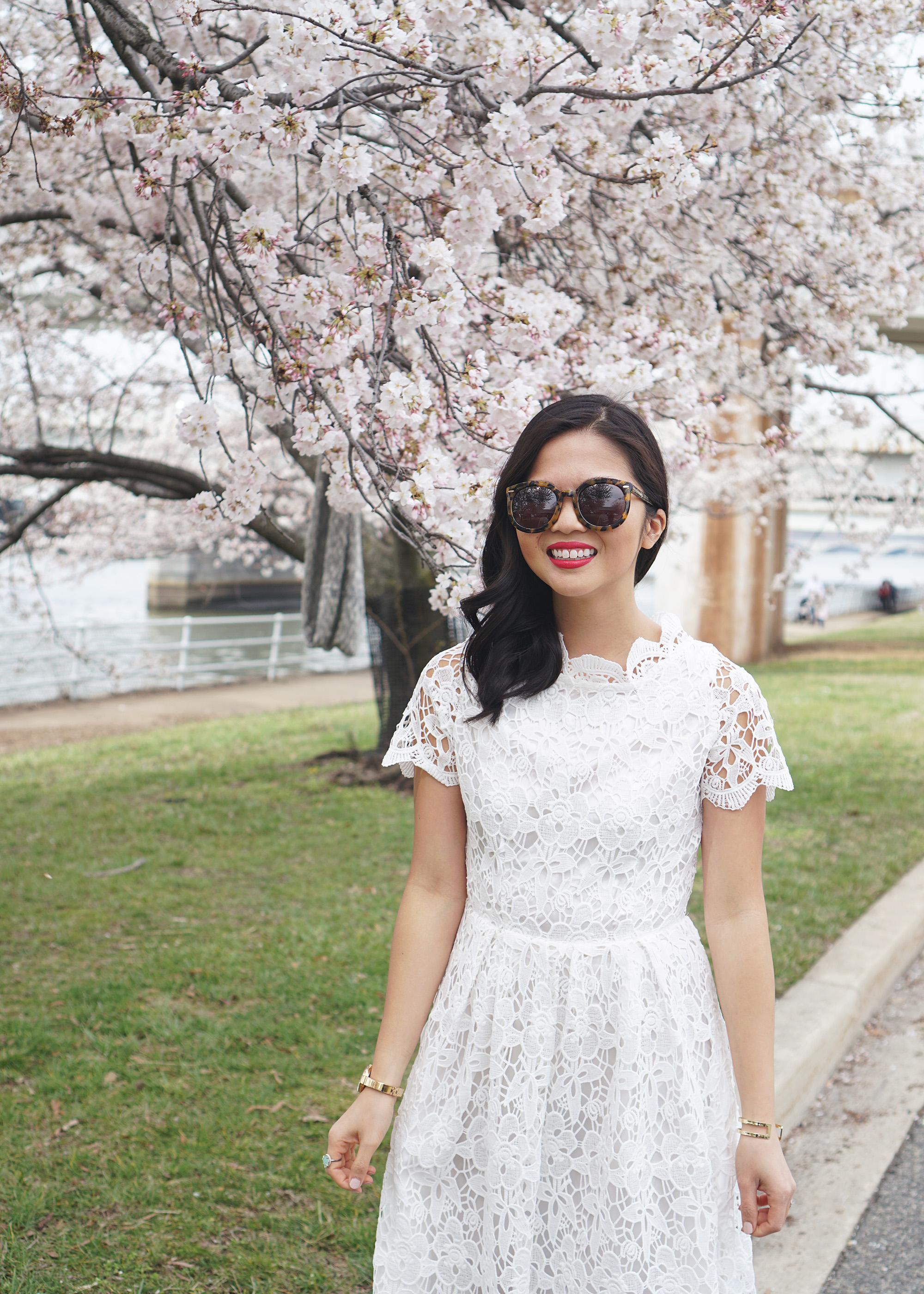 Skirt The Rules / White Lace Midi Dress