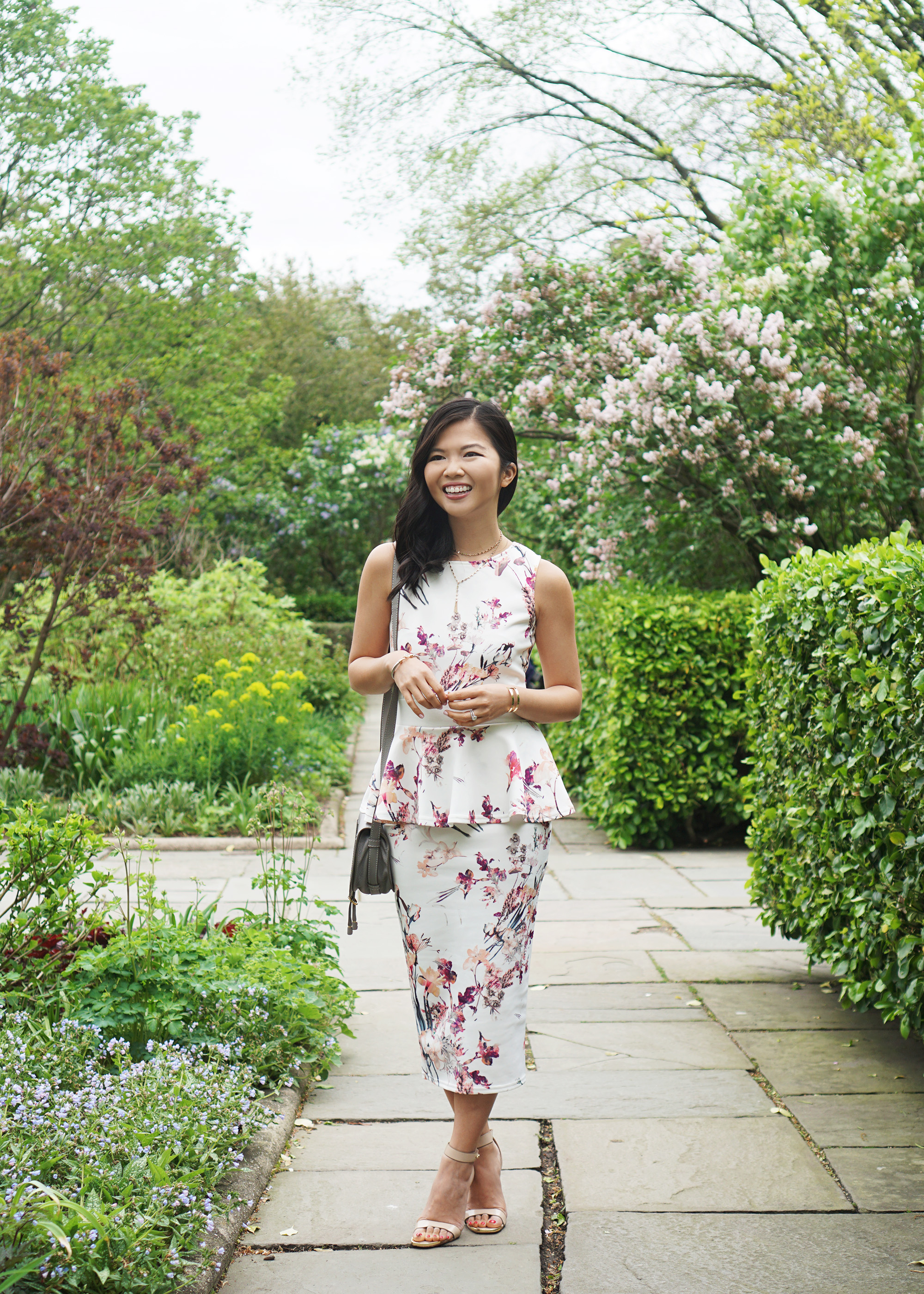 Skirt The Rules / Floral Peplum Dress