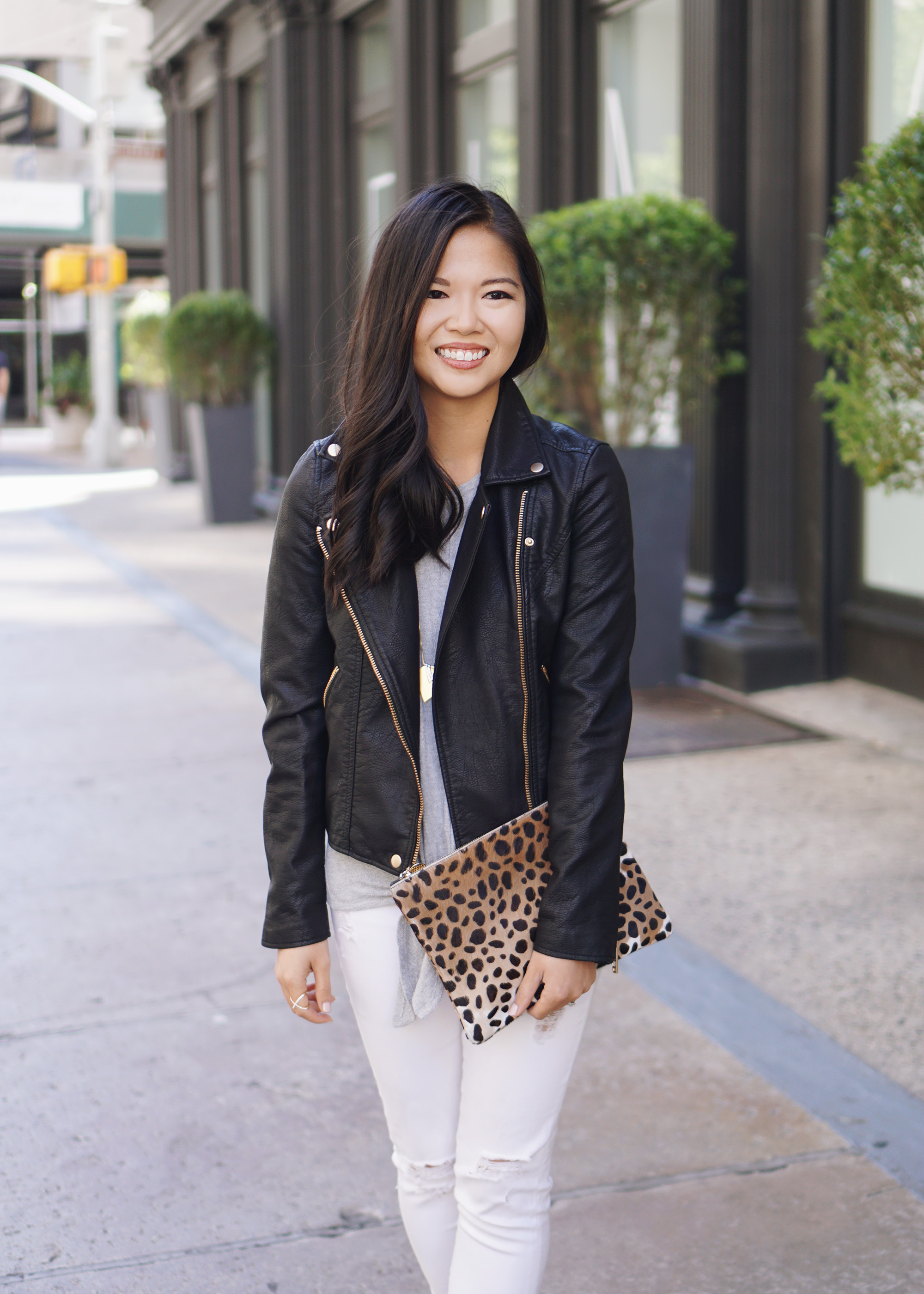 Fall Outfit Inspiration: Faux Leather Moto Jacket