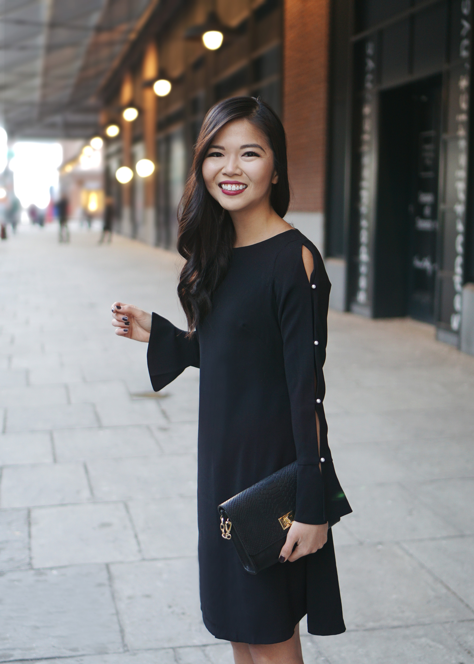Little Black Dress with Long Sleeves