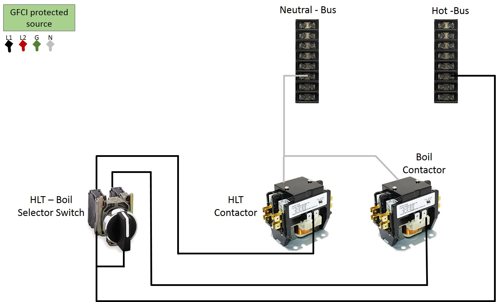 power contactor wiring diagram