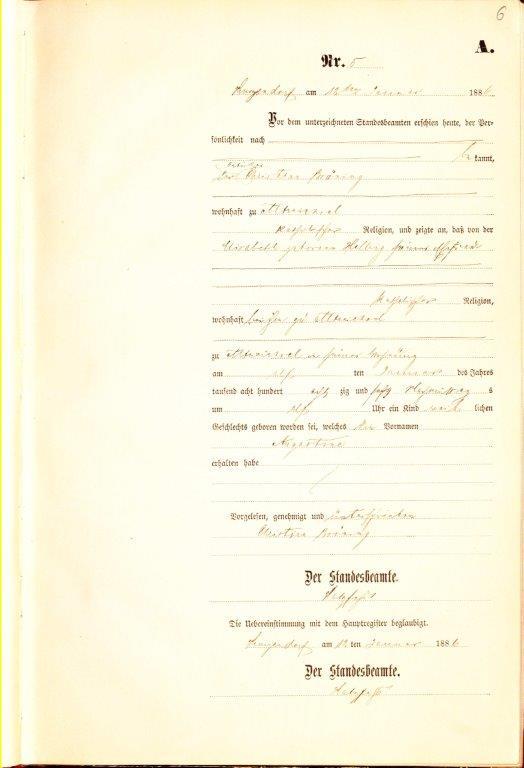 Birth Certificate Template - Katherine Schober, SK Translations - birth certificate template