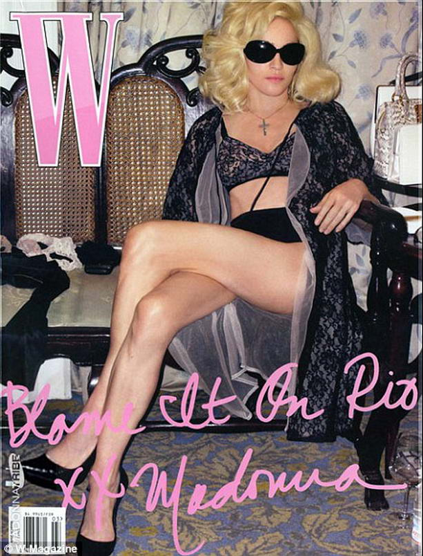 """Мадонна для журнала """"W"""""""