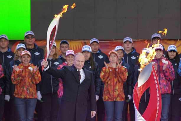 Путин и Олимпийский огонь