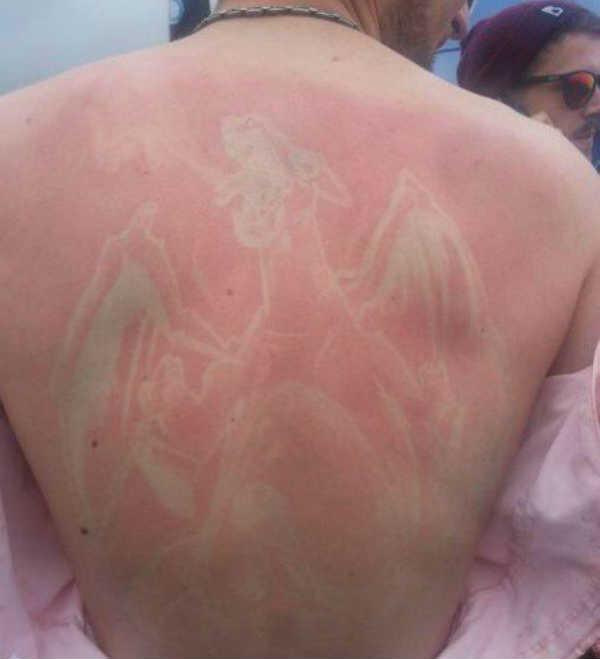 Художественный загар на коже