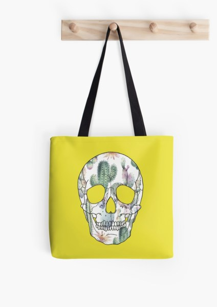 Tote Bag-CactusSKULL