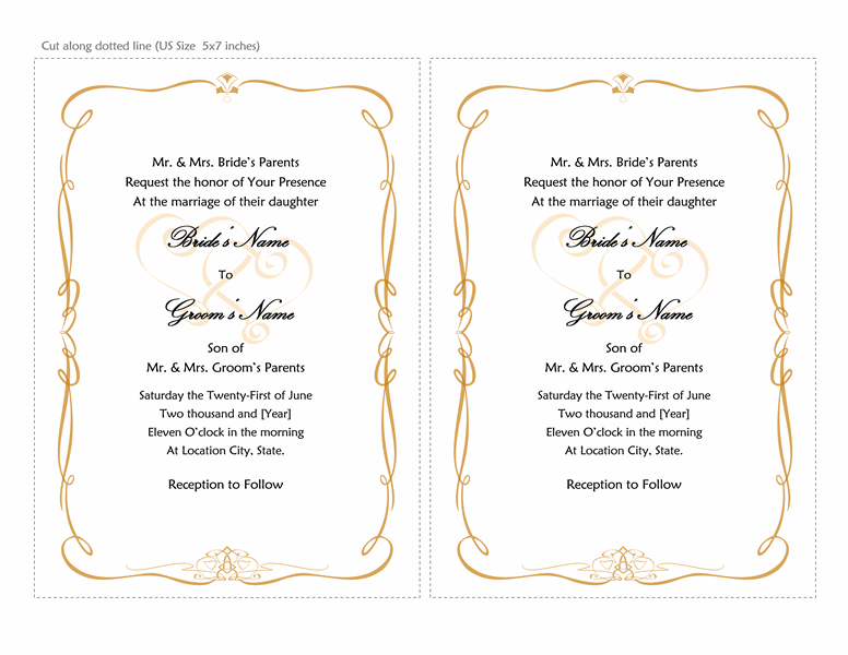 microsoft office wedding templates