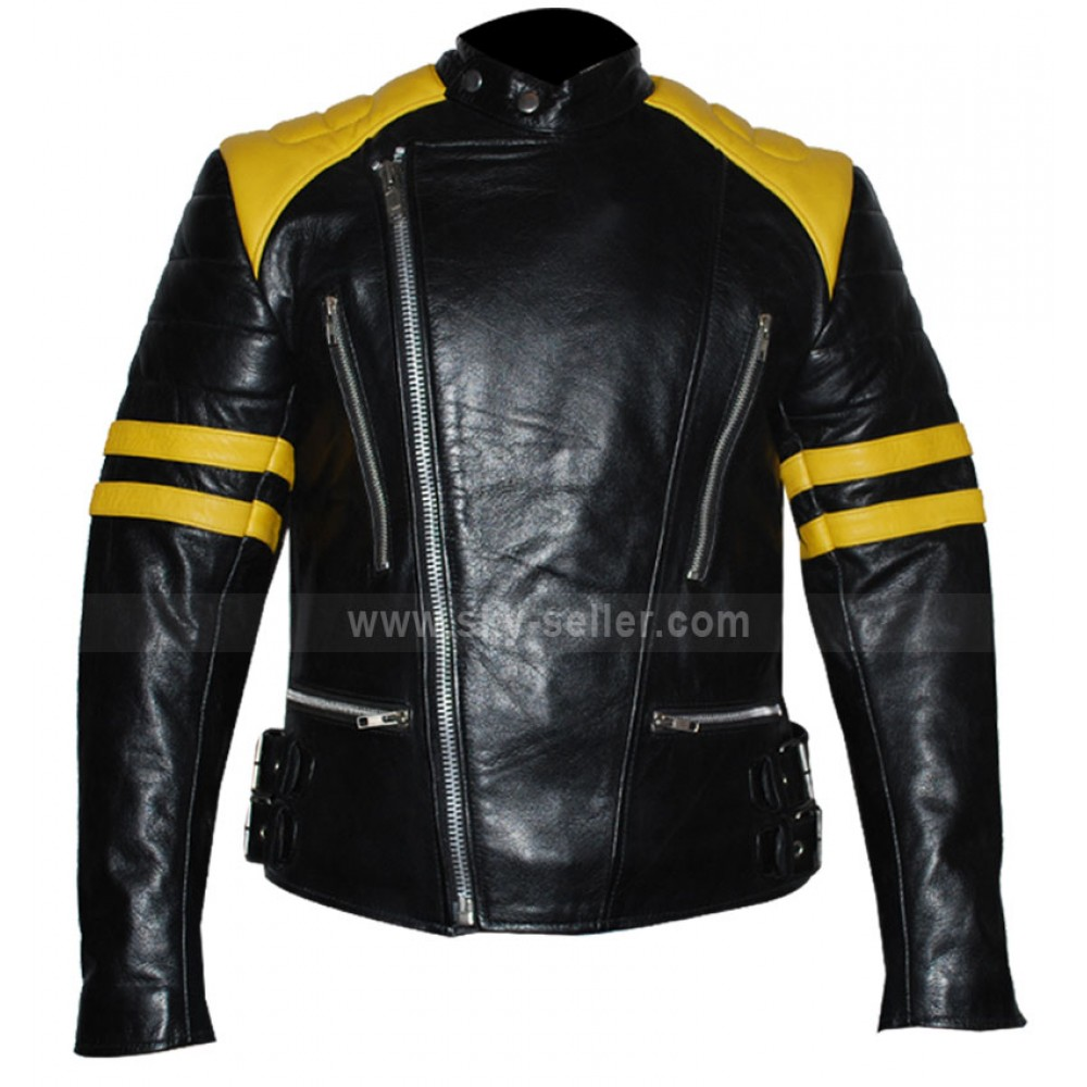 Black and yellow leather jacket gommap blog