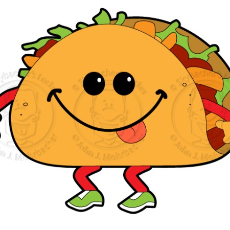 walking taco, taco cartoon, walking taco clipart