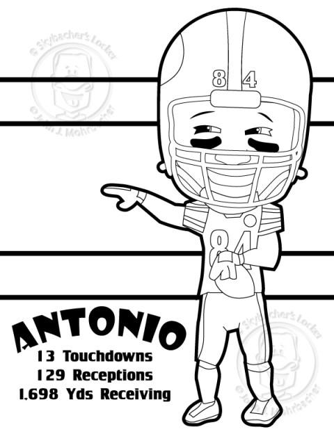 Antonio Brown Coloring Page