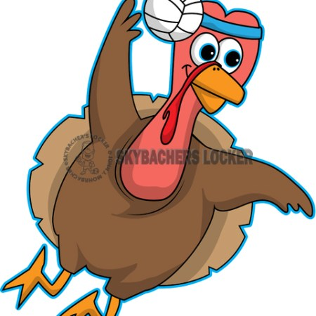 Volleyball Flying Turkey - Skybacher's Locker
