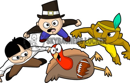 thanksgiving football clipart, pilgrim football