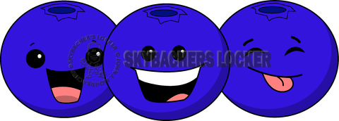 blueberry cartoon, blueberries, blueberry clipart