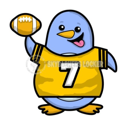 Penguin Wearing Football Jersey - Skybacher's Locker