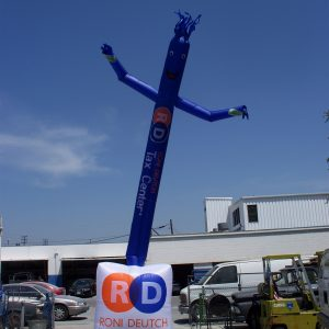 Roni Deutch 20' Skydancer Airpuppet with Hybrid Logo Box dancing inflatable RDTC