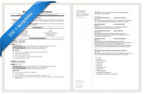 50+ Free Resume / CV Templates - Resume/cv Template