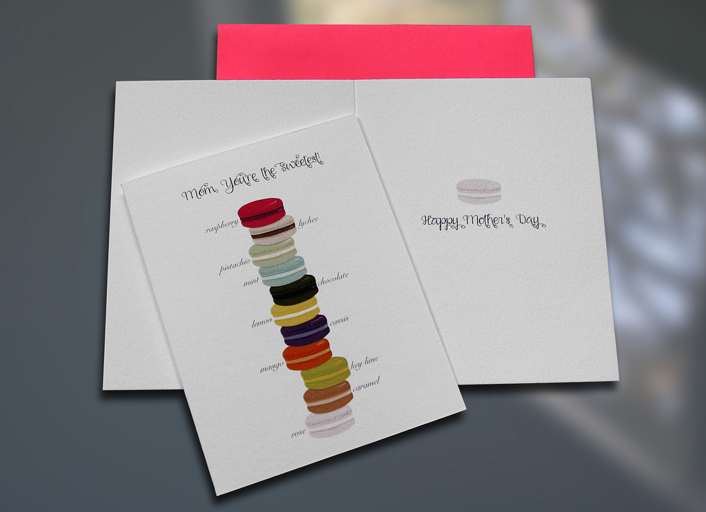Macarons Mom - Mother\u0027s Day - sky of blue cards
