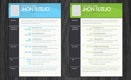 15 Free Resume Photoshop Templates for Enhancing the Chance of Being