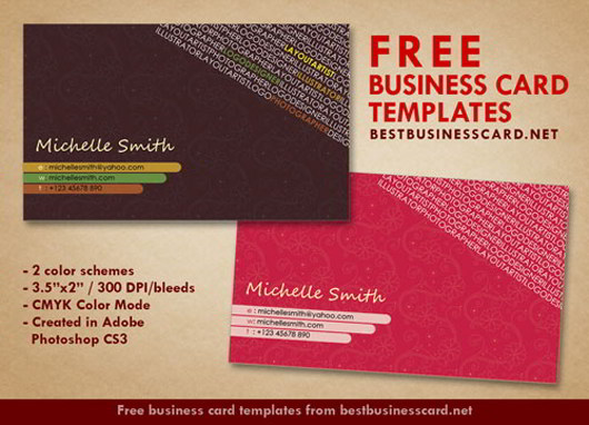 30 Elegantly Designed Free Business Card Templates - SkyTechGeek