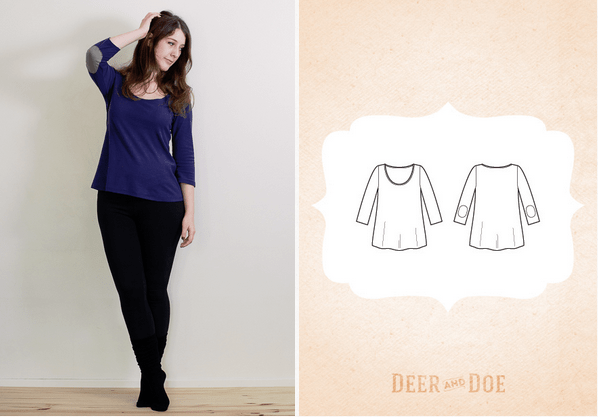 free tshirt sewing pattern deer and doe