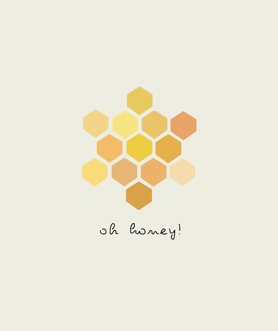 oh honey art print