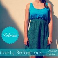Liberty Refashions: Button Down Shirt to Dress