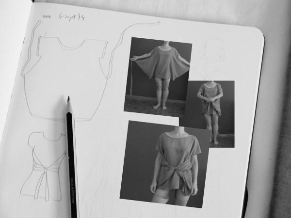 draped blouse sketch