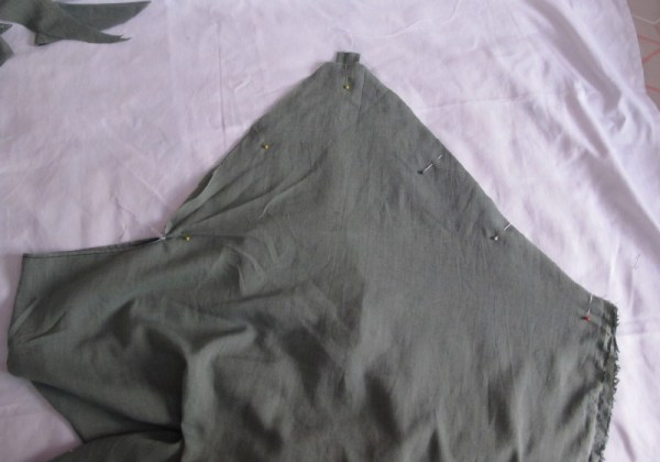 how to sew a draped bat blouse