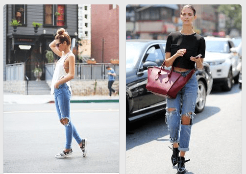 ripped denim jeans how to style