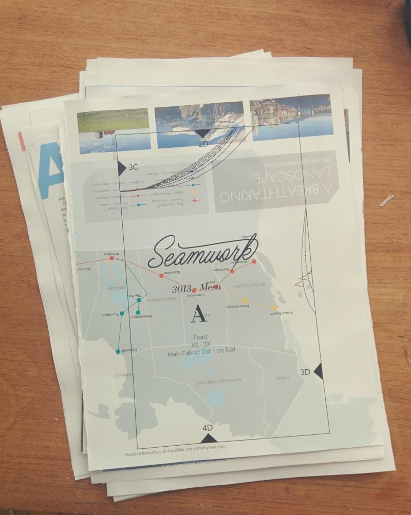 printing sewing patterns on magazine paper
