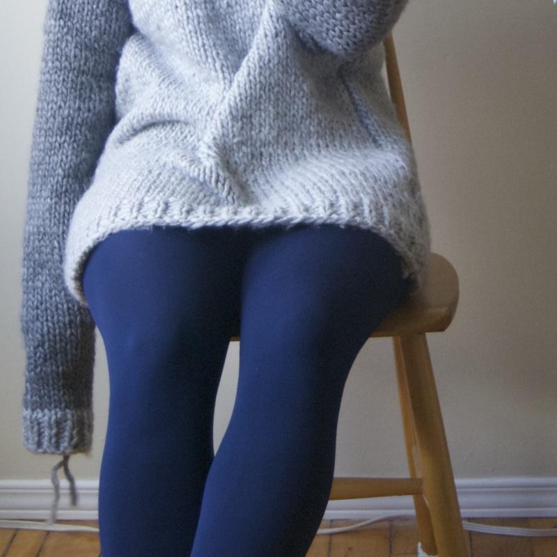 handmade wool sweater unfinished sleeve