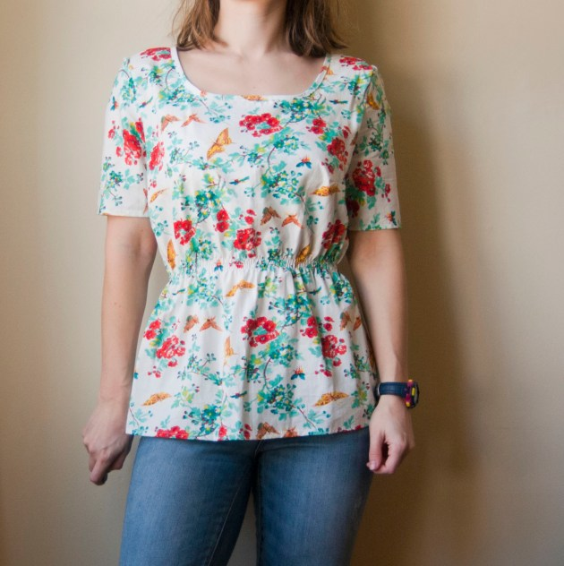 floral peplum top 2