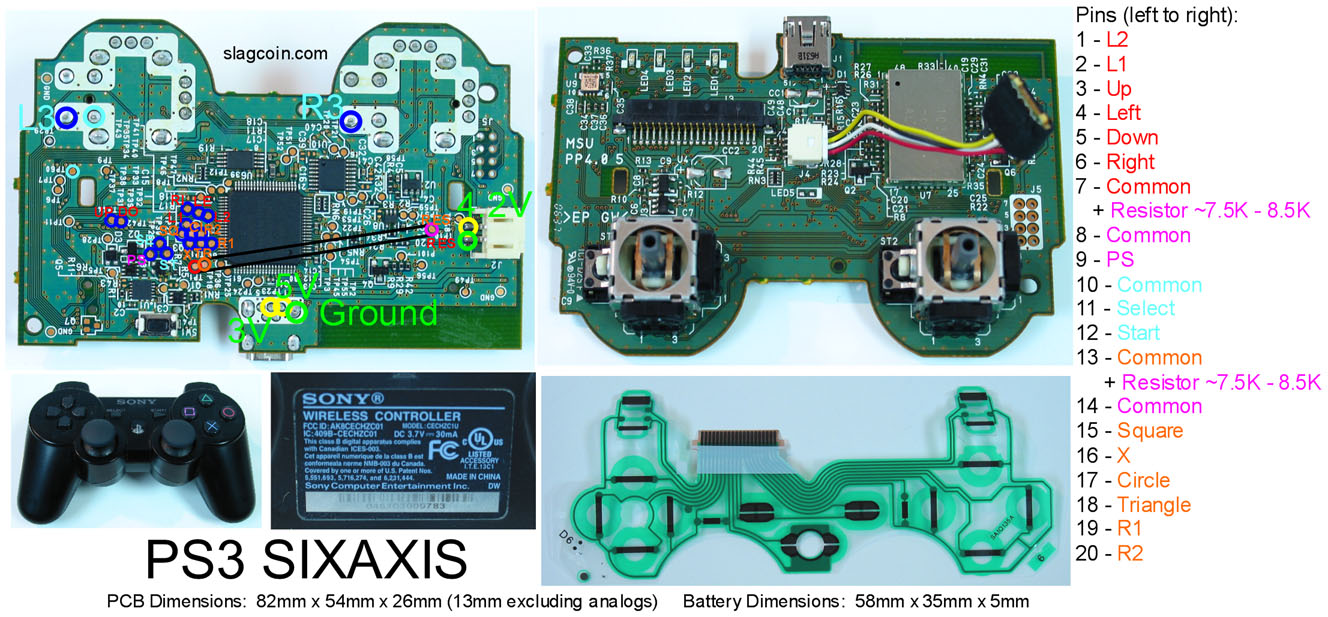 ps3 controller wire diagram