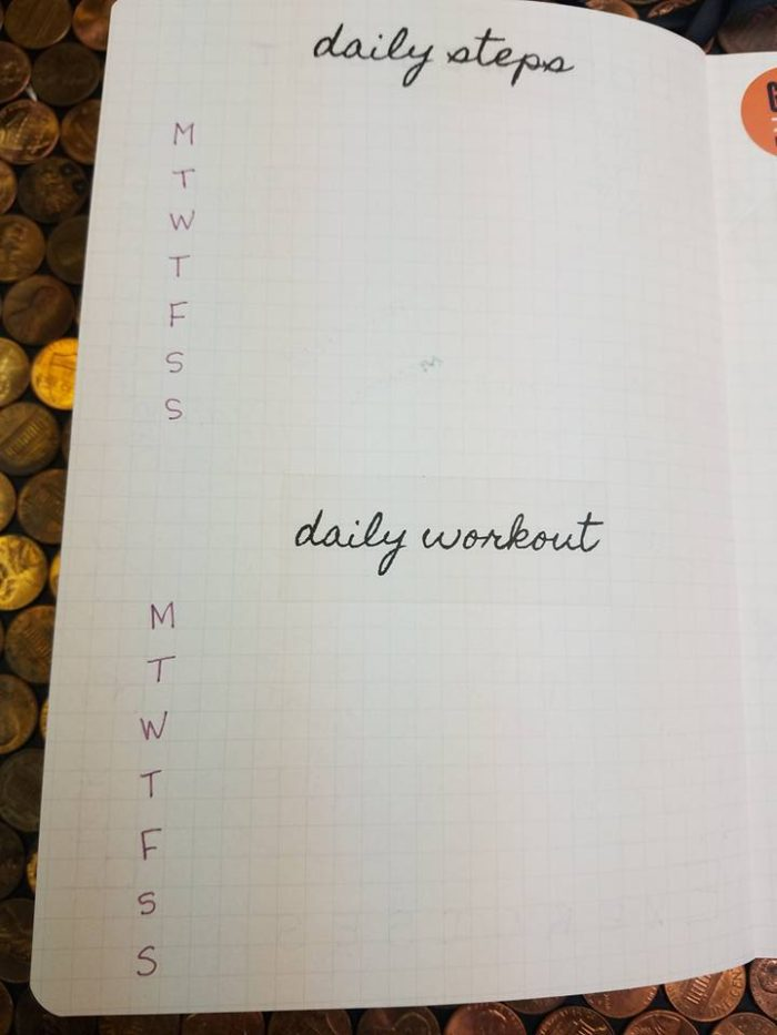 Bullet Journal for Weight Loss Layout Ideas + FREE Printable \u2013 Slap
