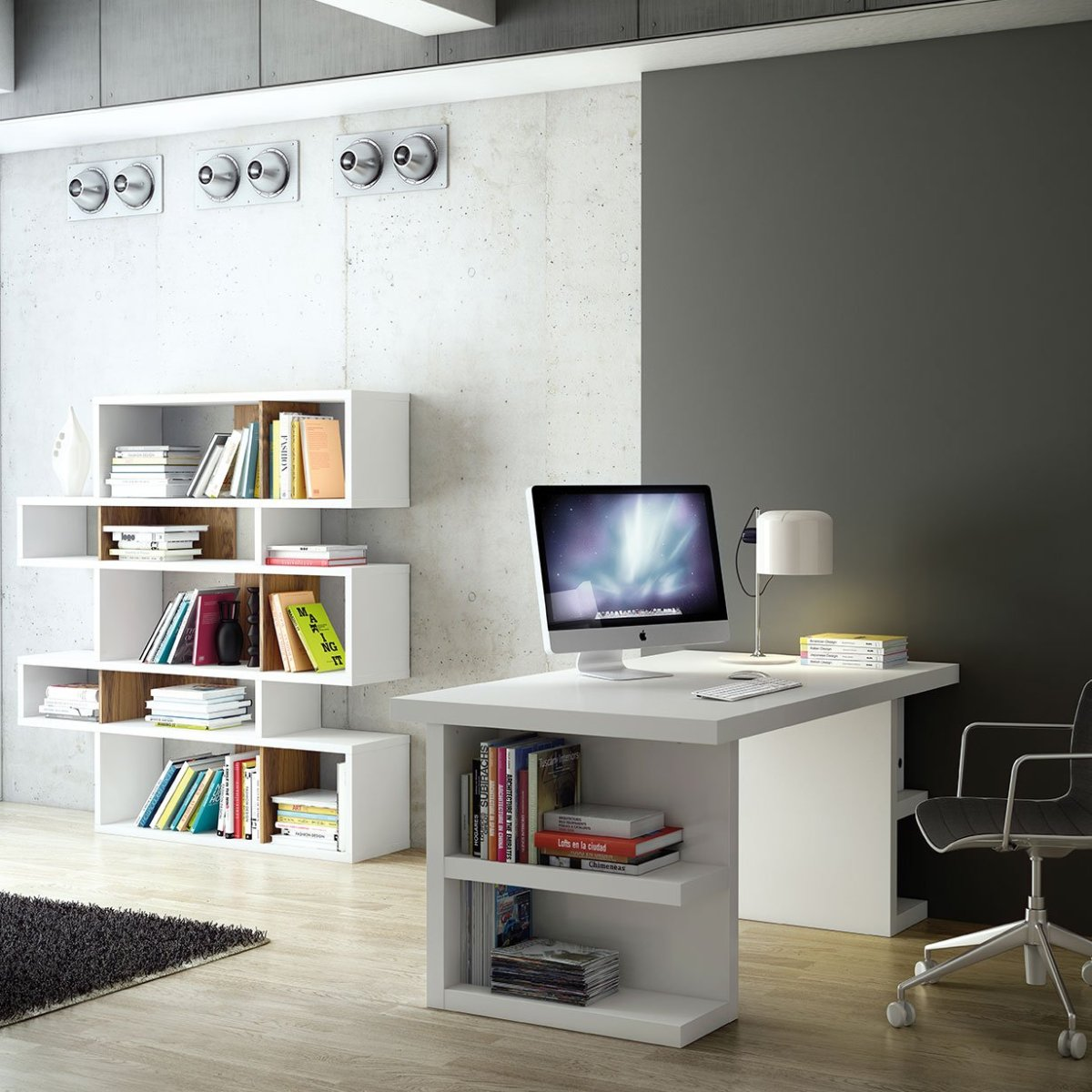 contemporary corner bookcase for space also designs 1