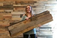 Easy Install Pallet Wood Wall