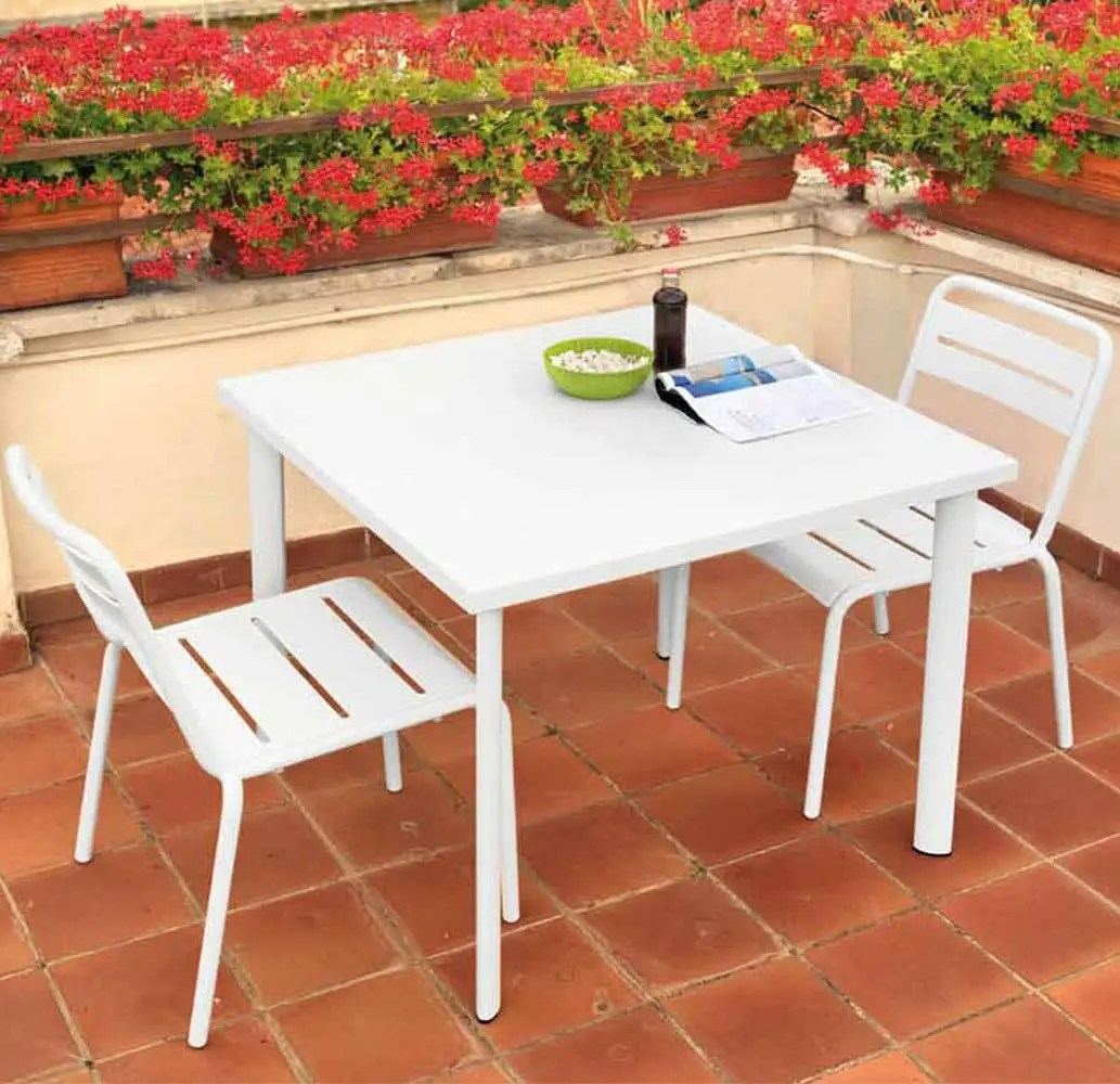 Mobilier Exterieur Emu Star - Collection Mobilier Bistro Acier - Design Italien Pro