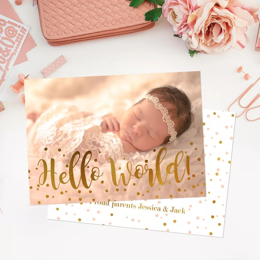 birth announcement cards template free