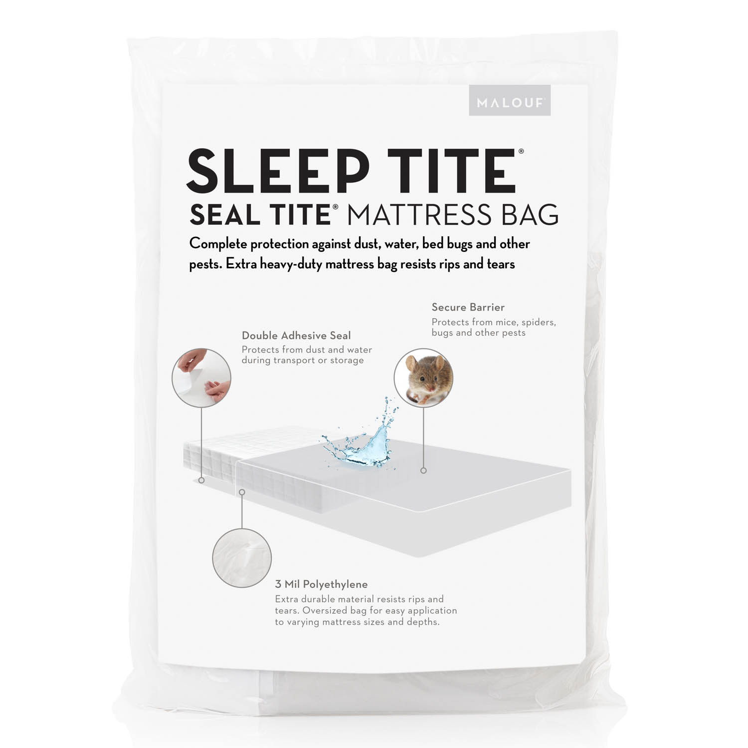 Malouf Sleep Tite Mattress Protector Malouf Sleep Tite Seal Tite Mattress Bag Sleep City