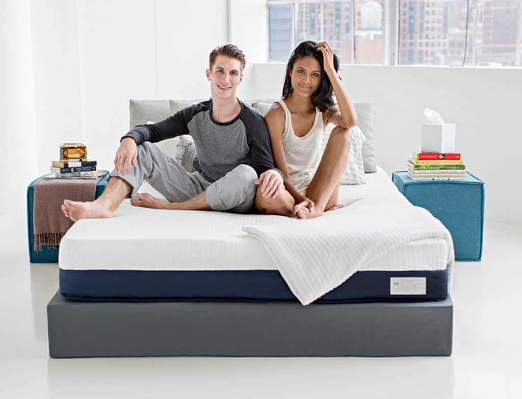 Helix Vs Loom And Leaf Helix Mattress Review Couple On Bed Sleep Delivered